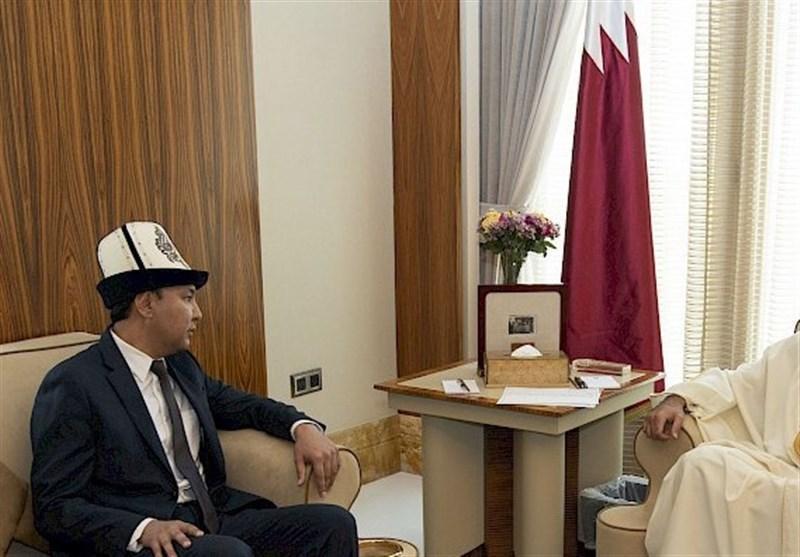 قدردانی امیر قطر از سفیر قرقیزستان برای توسعه روابط دو کشور