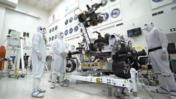 تمرینات بازوی رباتیک مریخ نورد مارس 2020